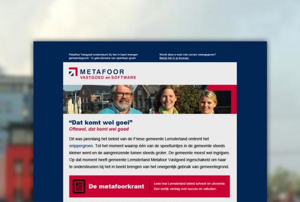 Nieuwsbrief Metafoor Software en Vastgoed