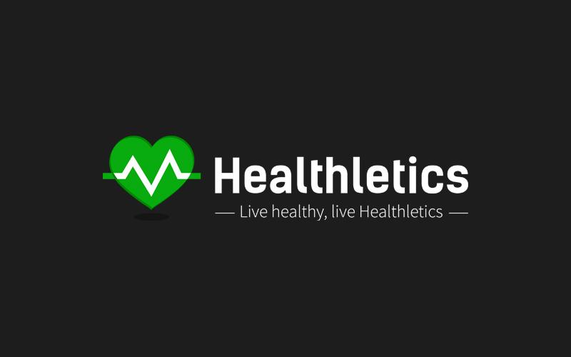 Healthletics logo zwart