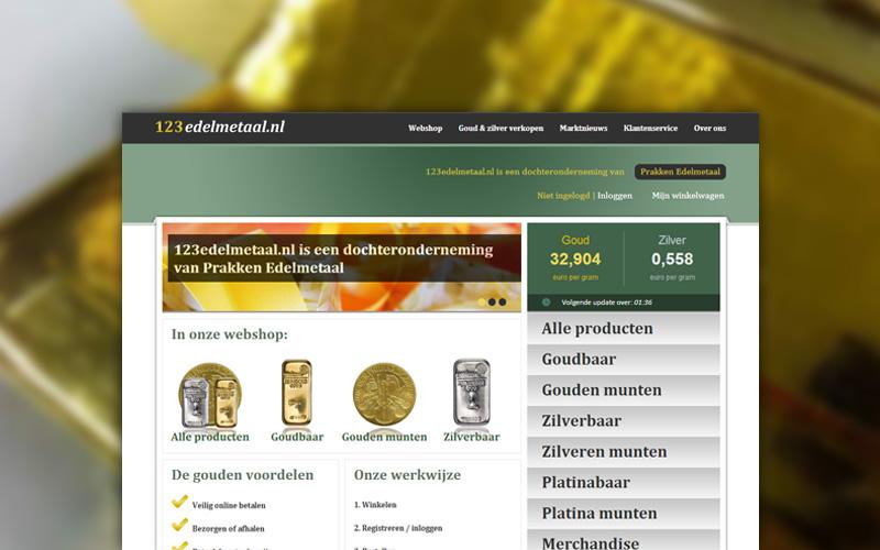 123edelmetaal website en webshop