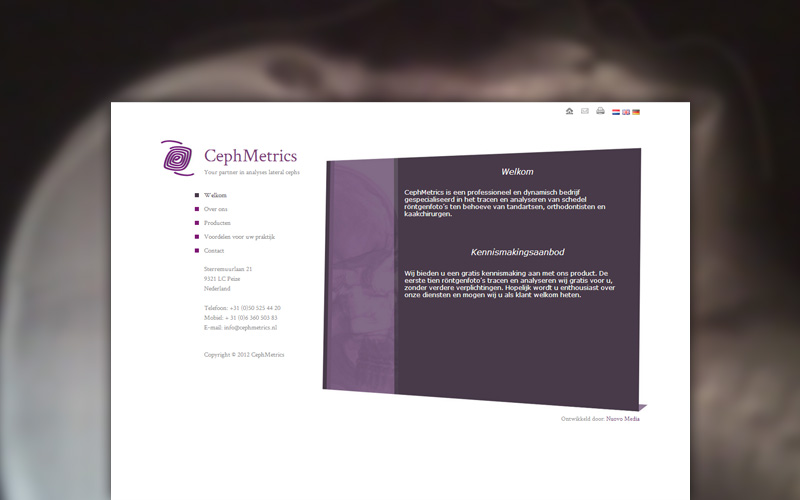 Cephmetrics website