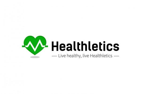 Healthletics logo wit