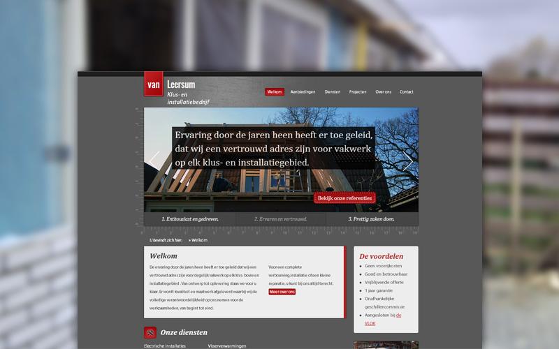 Website Klus- en installatiebedrijf Van Leersum