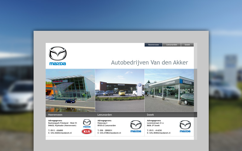 Mazda van den Akker website