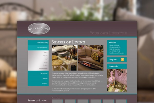 Senses of Living - website