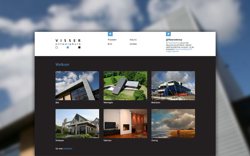 Visser Ontwerpburo - website